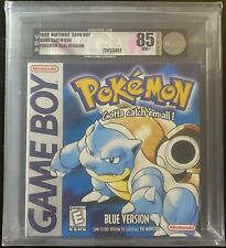 Brand New Factory Sealed Pokemon Blue Version Game Boy VGA Graded 85 Silver