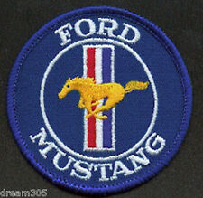 Vintage Ford Mustang Car Patch/ Crest Fastback Shelby GT 1970's Nice !!