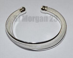 Hallmarked Sterling Silver 925 Twist Design Wrap Bracelet. UK