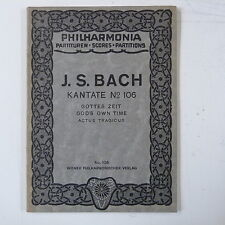 mini - pocket score BACH cantata 106