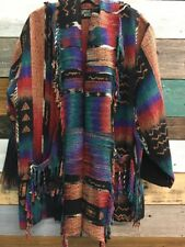 *RARE* Gina D'Ambrosio Handwoven 100% Silk Southwest Shaw Blanket Wearable Art