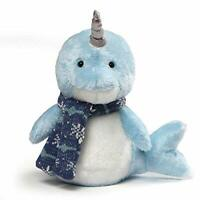 "Gund Neptune Narwhal Plush, 10"" Stuffed Animal New Fast Free Shipping"