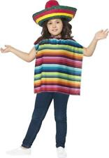 Kids Book Week Day Fancy Party Dress Mexican Instant Kit (Poncho & Sombrero Hat)