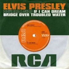 "Elvis Presley If I Can Dream Bridge Over Troubled Water 7"" Vinyl Single 2015"