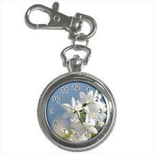 Jasmine Flowers Pocket Watch Keychain