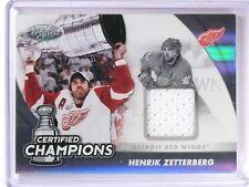 2011-12 Certified Champions Henrik Zetterberg Jersey #D67/99 #11 *51309