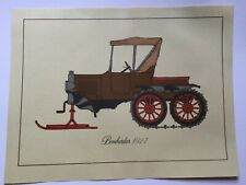 Vintage Print Of Bombardier , Snowmobile History, 1927 , UNFRAMED