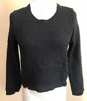 Junior's Black Long Sleeve American Rag Cie Sweater XS