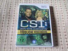 CSI Crime Scene Investigation Tödliche Verschwörung für Nintendo Wii *OVP*