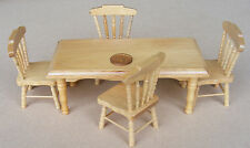 1:12 scala in pino colore legno tavolo e 4 sedie cucina in miniatura casa delle bambole 131P