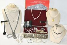 GODINGER JEWELRY BOX WITH LOT OF JEWELRY AND GIVENCHY MEDALLION NEXKLACE