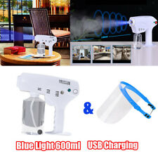 600ml Blue Light Nano Steam Spray Gun Fogger Sprayer Cordless Rechargeable