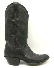 Justin Black Lizard Print Leather Classic Cowboy Western Boots Women's 6 B