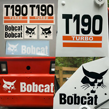 Bobcat T190 Turbo (SET OF 7) Skid Steer Replacement Aftermarket Vinyl Decals