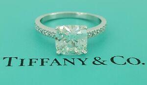 Tiffany & Co Platinum 2.17 ct NOVO Cushion Diamond Engagement Ring G/VVS1 $72K
