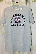 Abercrombie&Fitch A&F Men's Vintage Varsity Tee Shirt Muscle Fit RARE Grey NEW L