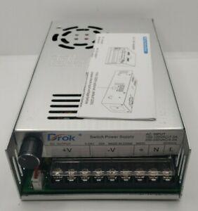AC to DC Power Supply, DROK AC 110V-220V to DC 0-48V Converter LED Adjustable AC