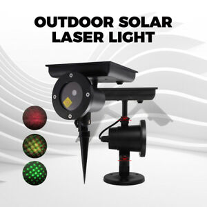 Solar Laser Light Stage Waterproof Outdoor Garden Xmas Projector Deco Lamp
