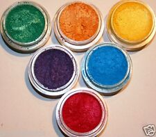 MINERAL MAKEUP 6~SWEETSCENTS~LOOSE POWDER~MICA~BARE~YELLOW~GREEN~RED~BLUE~ORANGE