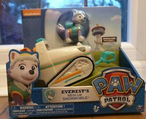 🔥Paw Patrol Everest's Rescue Snowmobile, Vehicle and Figure✨✨GREAT PRICE✨✨