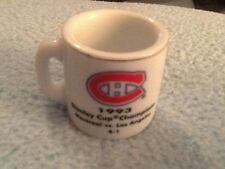 NHL STANLEY CUP CRAZY MINI MUG MONTREAL CANADIANS 1993 CHAMPS W/OPPONENT &SCORE