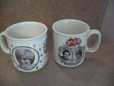 THE MARRIAGE OF PRINCE CHARLES AND LADY DIANA TWO SUPERB VINTAGE MUGS