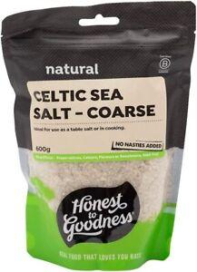 New Honest to Goodness Celtic Sea Salt Coarse 2 x 600 g Free Shipping AU
