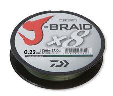 Daiwa J-braid X8 grün 1500m 0.22mm