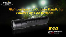 Fenix E40 Cree XP-E LED Flashlight, 3 Brightness + Strobe, 4xAA Model, US Seller