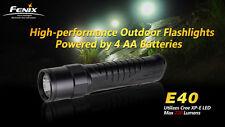 Fenix E40 Cree XP-E LED Flashlight, 3 Brightness + Strobe, 4xAA Model, US Seller
