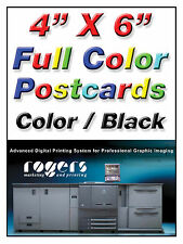 """CUSTOM POST CARDS - 250  -4"""" X 6"""" or 4 1/4"""" X 5 1/2"""" DOUBLE SIDED 4/1 COLOR"""