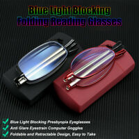 Blue Light Blocking Reading Glasses with Case Compact Unisex Glasses For Reading