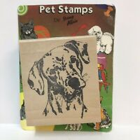 Pet Stamps By Rubber Stamp Affair Dalmatian Face Dog Head Puppy J1198 1992 NOS