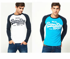2018 Superdry Mens Vintage Logo Raglan Long Sleeve T-Shirt Casual Top Size S-XXL