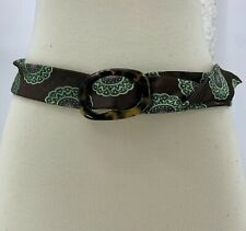 J Crew Womens Belt Silk Green Brown