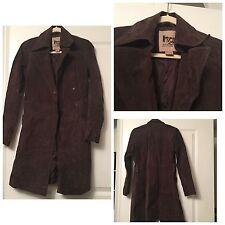 suede trench coat with belt Suede Coat Jacket