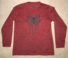 Mens The Amazing Spider Man Shirt•Size M 38-40•Polyester•Red & Black•Marvel