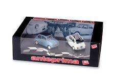 Anteprima Fiat Nuova 500 1957 Economica + Normale aperta 1:43 2001 A006 BRUMM