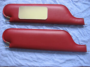 1966-67 cutlass 442  convertible  new sun visors with vanity mirror red