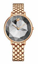 Swarovski Crystal Lake 35mm Case Women's Bracelet/Link Band Wrist Watch, Rose Gold Plated
