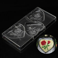 DIY Large Heart Flower Polycarbonate PC Chocolate Mold Ice Mould Jelly Maker Hot