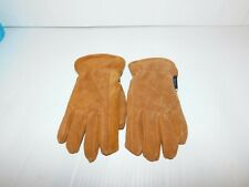 Boys size small 4 / 7 Thermosoft Lined Leather Gloves