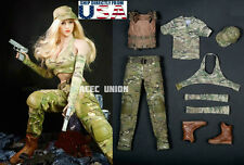 1/6 Female Combat Soldier Clothing Camouflage Set A For Phicen Hot Toys U.S.A.
