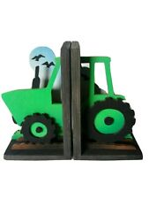 Wooden bookends - Tractor