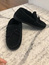 Bearpaw Mens Black Warm Slipper Ankle Shoes Size 8