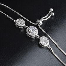 Armband Zirkonia Armreif Kristall Schmuck 925 Sterling Silber pl Tennisarmband