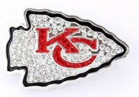 KANSAS CITY CHIEFS,  Pin, Brooch, Bling, SPARKLE & SHINE, NFL Football