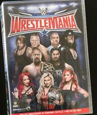 COFFRET 3 DVD CATCH WWE NEUF - WRESTLEMANIA 32 - ROMAN REIGNS VS HHH - FRANCAIS