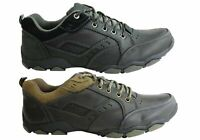 Mens Wild Rhino Barooga Leather Lace Up Casual Shoes - ModeShoesAU