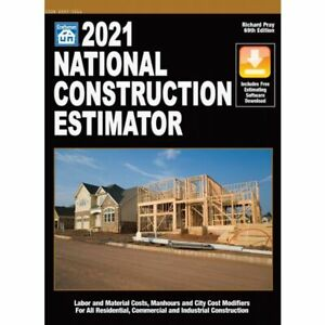 2021 National Construction Estimator Book w/Software download & Free Gift